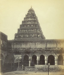 Tanjore Palace. Curious pyramidal tower